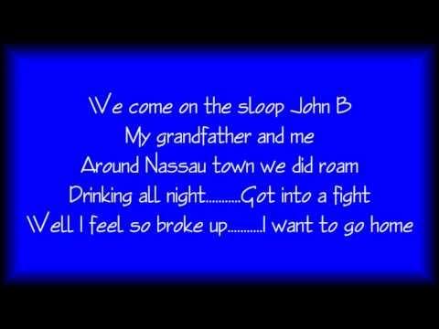 Sloop John B   Karaoke   Key D