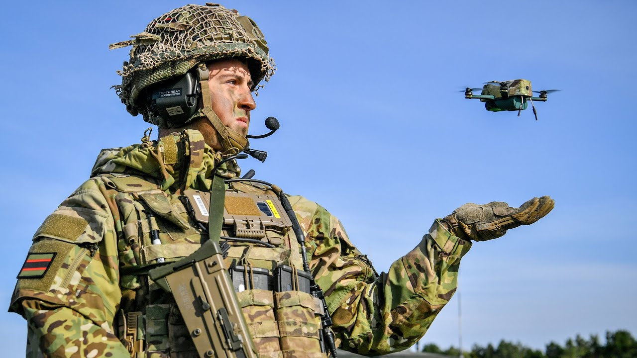 British Army unveils bug-like drones which can withstand 40mph winds -  YouTube
