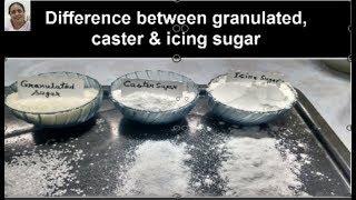 how to make #granulatedsugar#castersugar#icingsugar