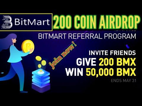 Bitmart 200 coin airdrop, genuine airdrop 2020 1