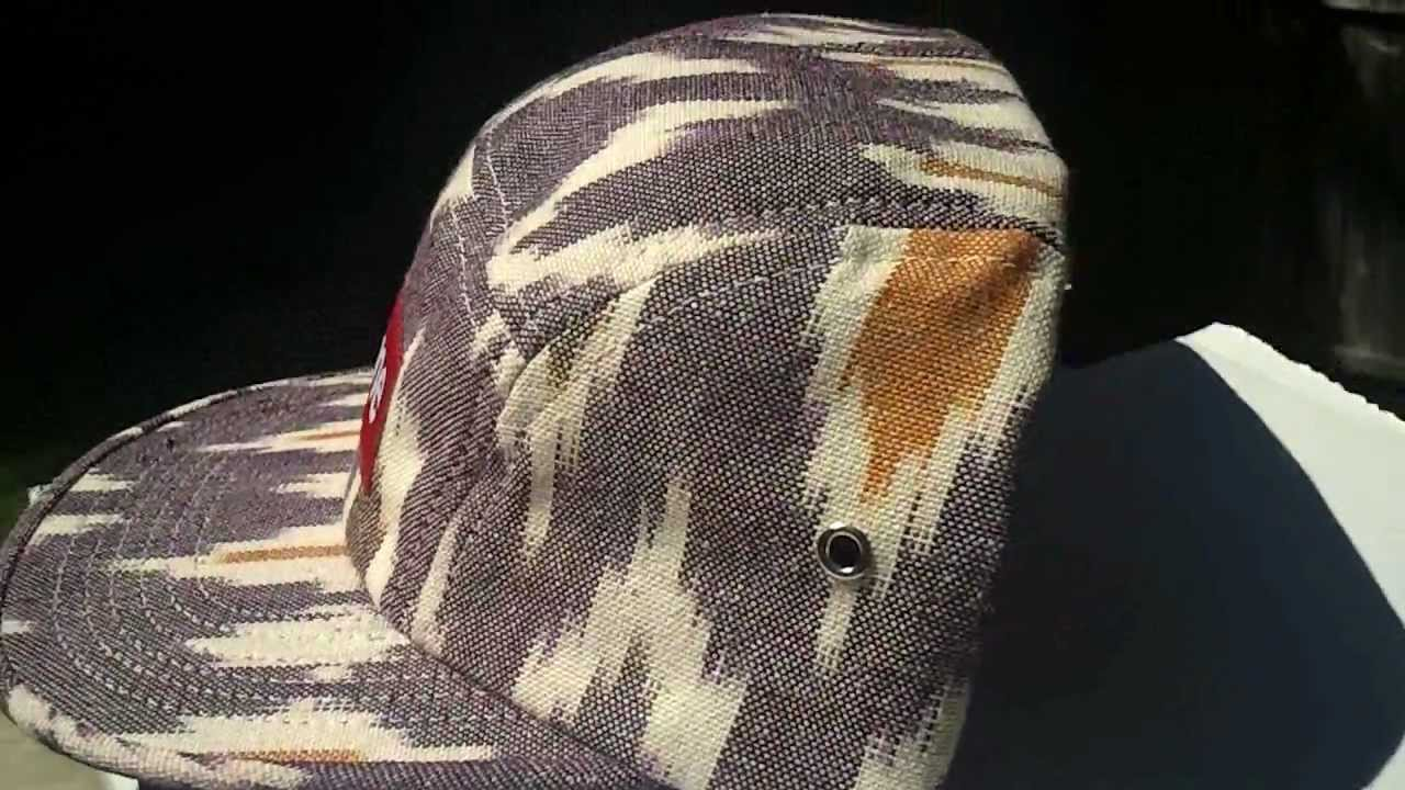 ed206c7e8e7 Supreme Ikat Camp Cap Five Panel Purple - YouTube