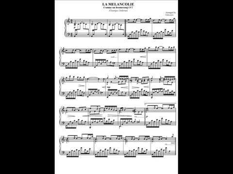 La Melancolie (piano solo) Georges Delerue
