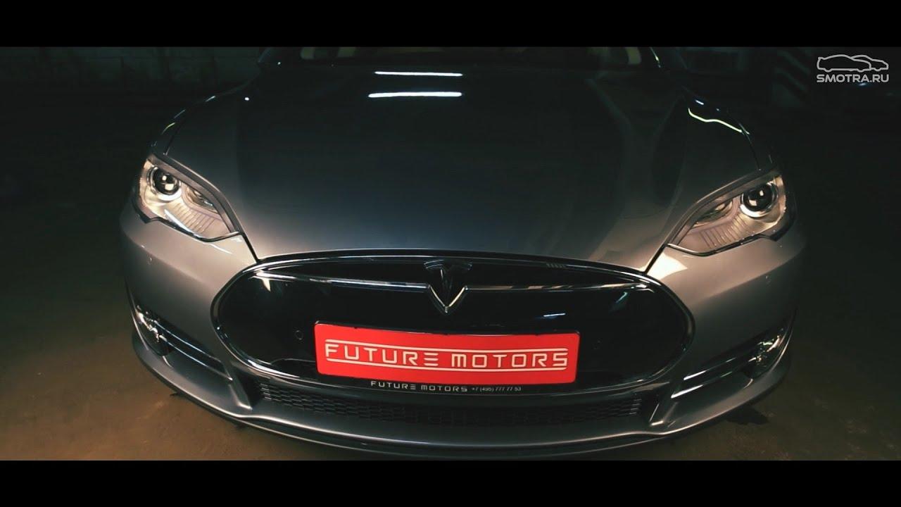 автомобиль тесла тест драйв видео