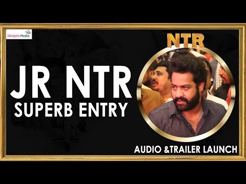JR NTR Superb Entry @NTR Biopic Audio & Trailer Launch Event