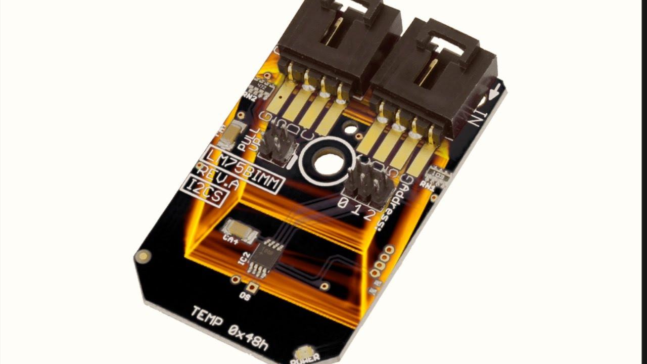 Beaglebone Black Lm75bimm Temperature Sensor C Code Tutorial Youtube Lm75 Schematic