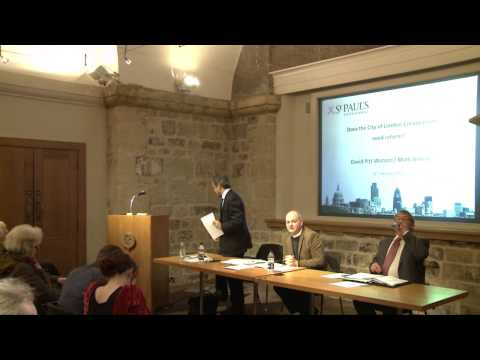 Does the City of London Corporation need reform? - Debate at St Paul's Cathedral