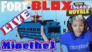 🍩 FORT-BLOX Roblox LIVE Play Island Royale w/Fans KID GAMER MinetheJ Jaden Crescendo No Profanity