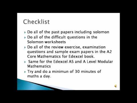 How to get an A* in C3 and C4 (Edexcel)