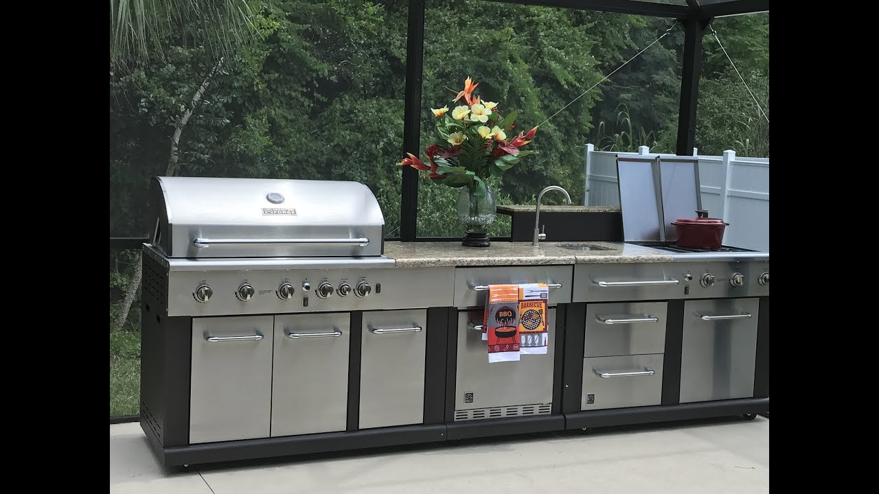 modular outdoor kitchen small ideas pictures gas grill putting green from lowe s part 3