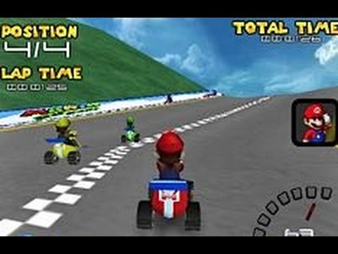 playing mario racing car game for kids