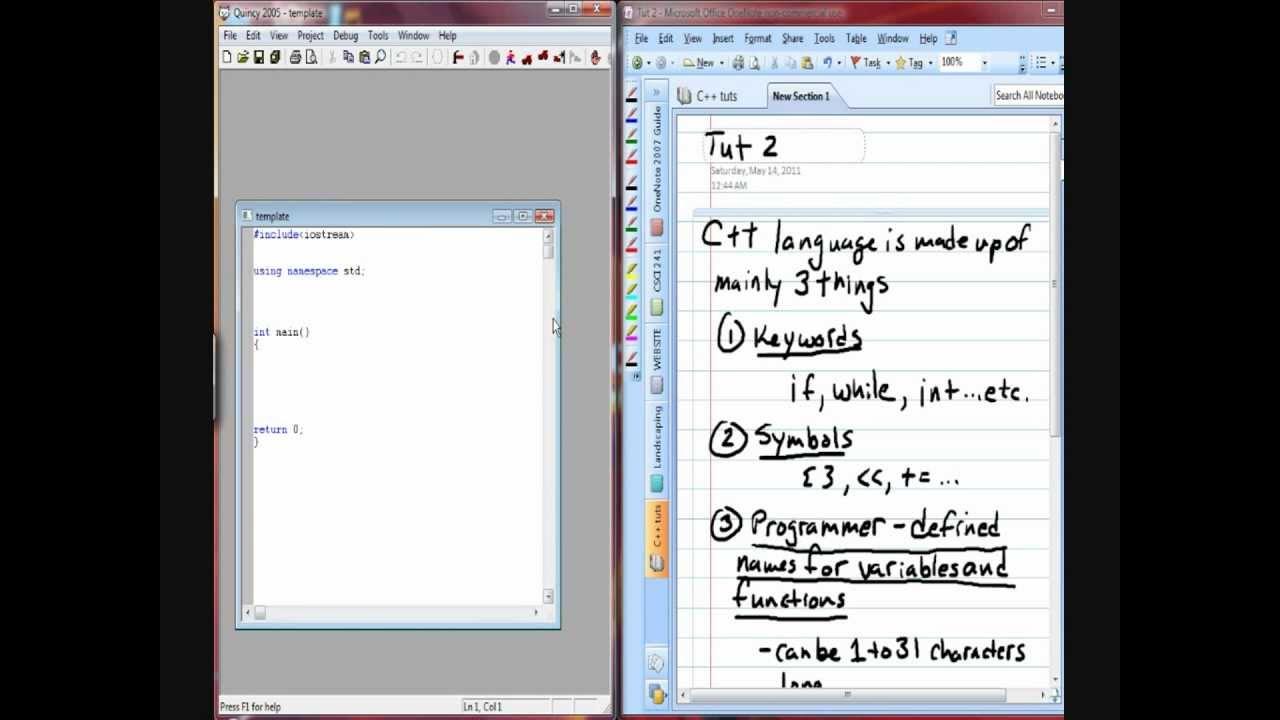 C++ tutorial 2...keywords...symbols...programmer-defined ...
