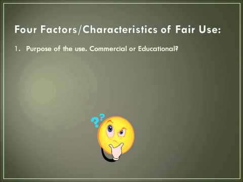 Fair Use Doctrine Tutorial