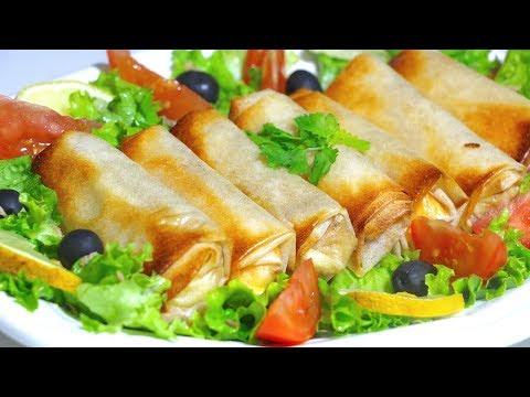 Bourek poulet au four | Oven baked creamy chicken rolls [Ramadan]