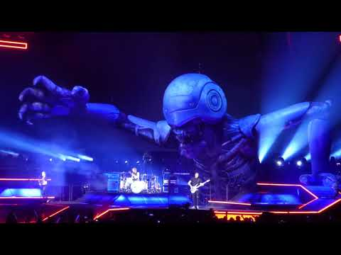 Muse with Giant Moving Robot on stage, Stockholm Syndrome, Live Concert, Oakland March 2019, Murph.
