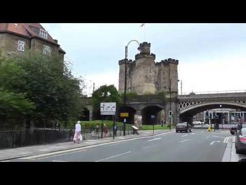 Newcastle upon Tyne.  A walk by the Old Castle and over the High Level Bridge. Tyne. 07.07.2016.