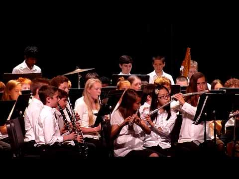 """Swanson Middle School 6th Grade Concert Band Percussion Section plays """"Foxwood Overture"""""""