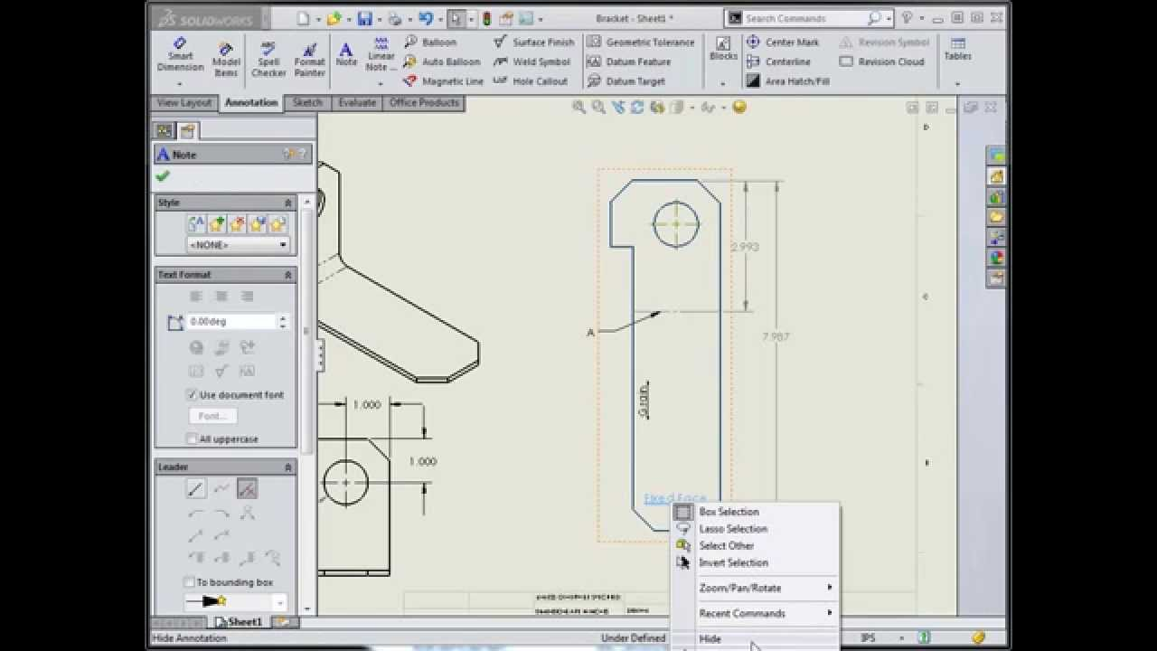 Grain Coil Direction Annotation In Solidworks Youtube