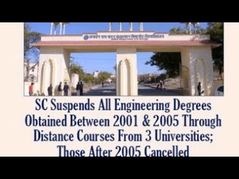 SC Suspends All Engineering Degrees Obtained Between 2001 & 2005 Through Distance Courses