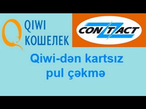 Qiwi Den Karta Pul Cəkmək Youtube