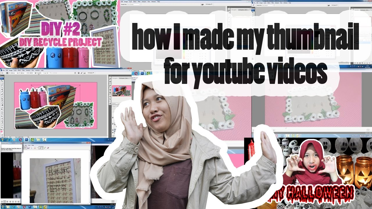 cara edit thumbnail youtube photoshop