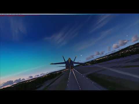FA 18 Hornet - VFR - Switzerland - FSX Rundflug Schweiz - Vollmond Party - Ruckel Video