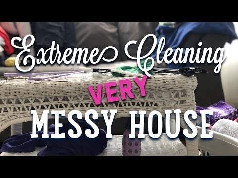 extreme-cleaning-||-very-messy-house-||-speed-clean-||-jan-2018-||-greenish-katie-cleans