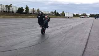 Longest No Handed Wheelie on a minibike