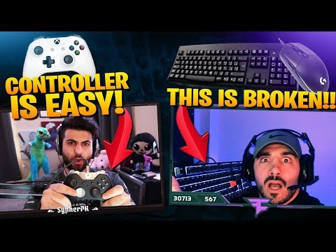 NICKMERCS ON MOUSE AND KEYBOARD! SYPHERPK ON CONTROLLER! (Fortnite Battle Royale)