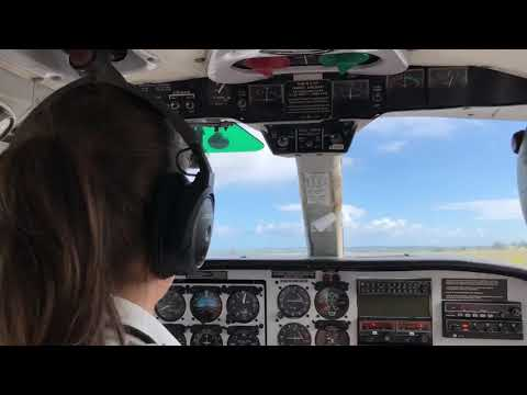 Flying from Antigua to Montserrat island