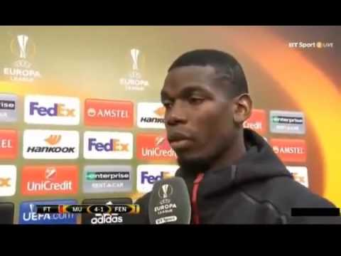 Manchester United vs Fenerbahçe 4 1 Paul Pogba Post Match interview UEFA Europa league