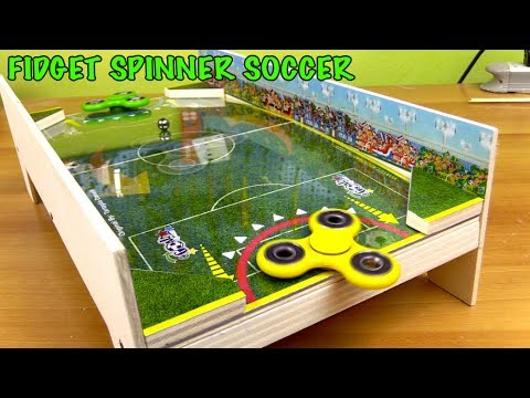INCREDIBLE GAME  Fidget Spinner SOCCER -  How to make