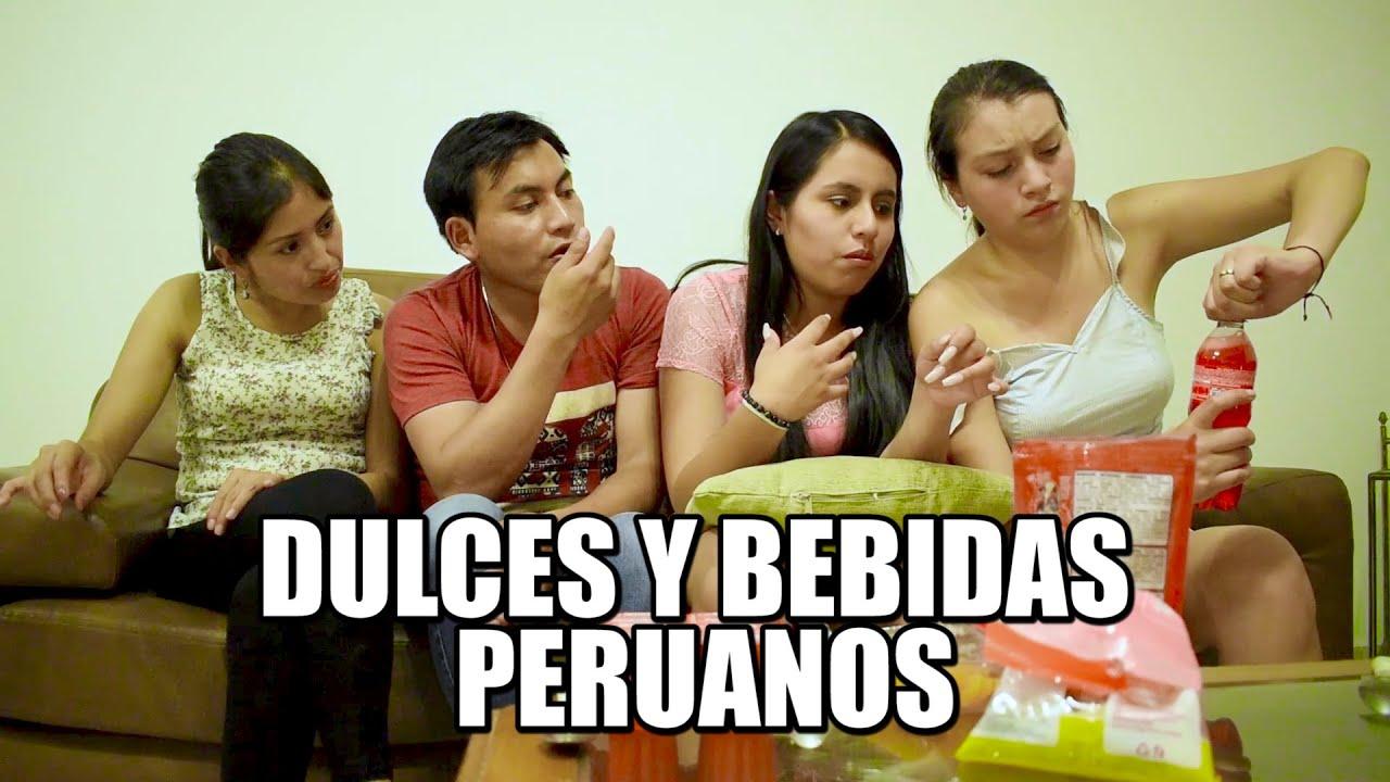 PROBANDO DULCES Y BEBIDAS PERUANOS - TRES Y MEDIO