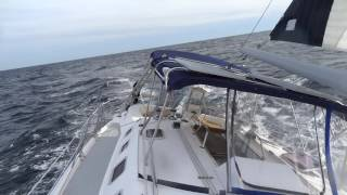 awesome single handed sailing at atlantic ocean hunter 466
