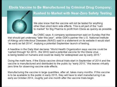 Dr Scott Johnson 9/14/14 (2/2) Ebola Vaccine Manufactured by Criminal GSK, Start of Vaccine Trials