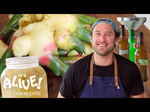 Brad Makes Ginger Beer | It's Alive | Bon Apptit