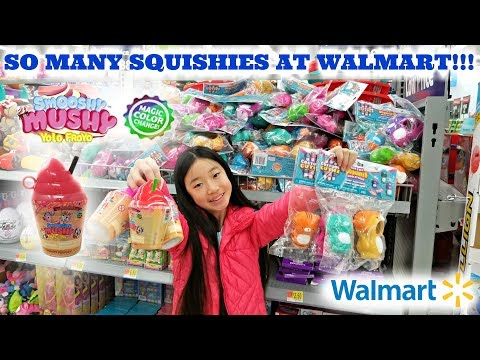SO MANY SQUISHIES AT WALMART 4 HOURS AWAY FROM HOME SPRING BREAK VLOG 2018 SQUISHY HUNTING
