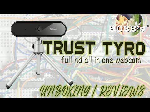 Camera Web Trust Tyro | Full Hd Webcam | Unboxing Camera Web Trust Tyro | All in one Camera Web