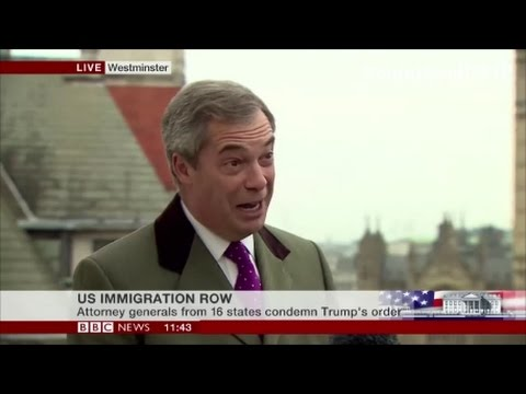 Thumbnail: Nigel Farage calls for muslim ban in the UK and calls media hypocrites