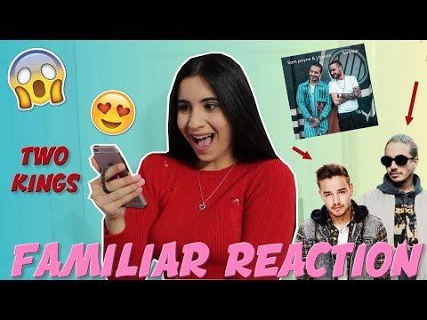 (Latina Reacts) LIAM PAYNE & J BALVIN FAMILIAR REACTION (freak out) | Just Sharon