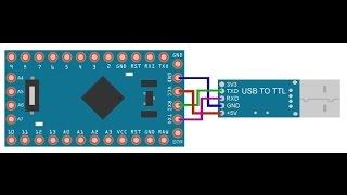 как прошить Arduino Pro Mini с помощью Arduino Uno sketch