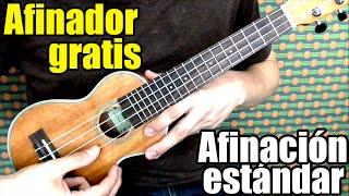 Afinador ukulele online gratis (Sonido de cada cuerda)/ Free tuner (Soprano, concierto, tenor) GCEA