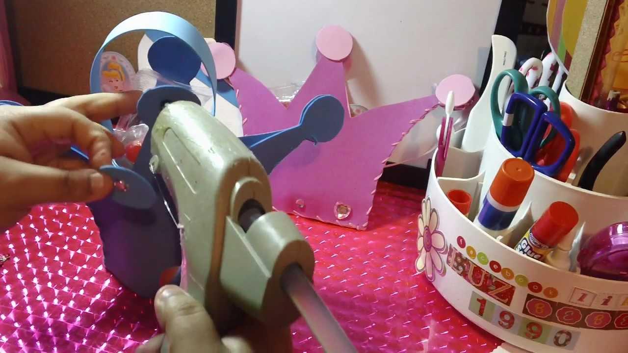 Dulceros de cenicienta coronas para fiestas infantiles - Como hacer una mesa de centro ...