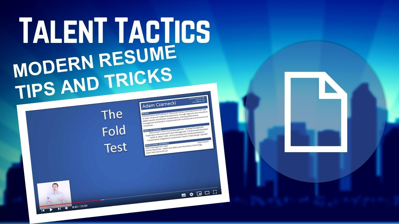 Part 1 The Modern Resume   How To Write A Resume (Tips And Tricks)   YouTube  How To Write A Modern Resume