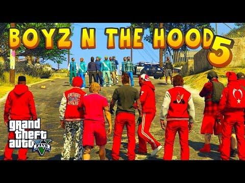 GTA 5 ONLINE - BOYZ N THE HOOD PART 5 | BLOODS VS CRIPS