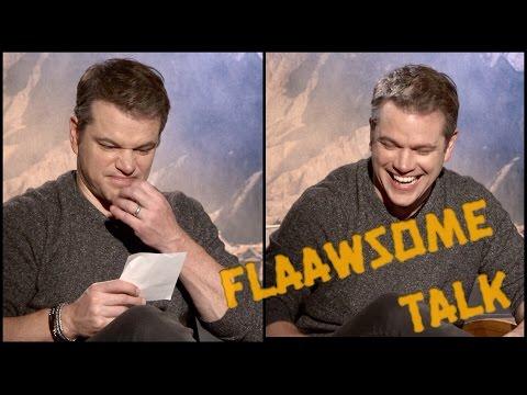 MATT DAMON Breaks Down In Laughter Learning Slang From SKAM - (Norwegian Teen TV show)