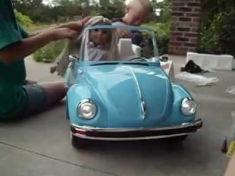 opening american girl doll julie  ivys car wash set part ii volkswagen bug vw youtube