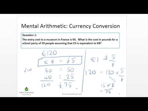 QTS Numeracy Test Demo: Currency Conversion