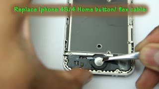 how to replace an iphone 4 home button flex cable
