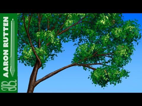 Digital Art - Impressionist Leaves Brush (Custom Brush for Corel Painter)