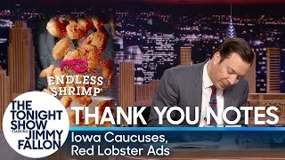 Thank You Notes: Iowa Caucuses, Red Lobster Ads